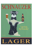 Schnauzer Lager Reproduction pour collectionneurs par Ken Bailey
