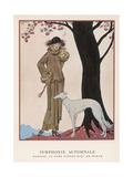 Lady and Saluki 1922 Giclée par Georges Barbier