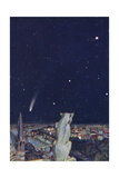 Halley's Comet Seen from Notre Dame  Paris
