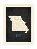 Black Map Missouri