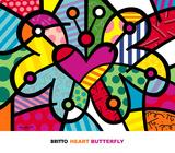 Heart Butterfly Reproduction d'art par Romero Britto
