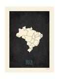 Black Map Brazil
