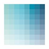 Bleu Vert Aqua - Spectre chromatique, carrés Reproduction d'art par Rebecca Peragine