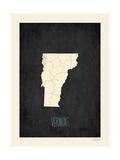 Black Map Vermont