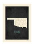 Black Map Oklahoma