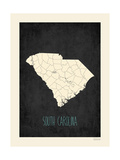 Black Map South Carolina