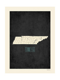 Black Map Tennessee