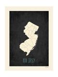 Black Map New Jersey