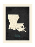 Black Map Louisana