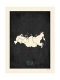 Black Map Russia