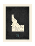 Black Map Idaho