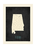 Black Map Alabama