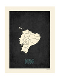 Black Map Ecuador