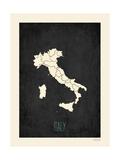 Black Map Italy