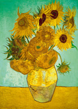 Still Life, Vase With Twelve Sunflowers Reproduction d'art par Vincent Van Gogh