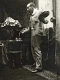 Paul Gauguin Posing in Mucha's Studio  Rue De La Grande Chaumière  Paris  1893