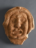 Roof Tile in the Shape of a Human Face  Ad 55-65