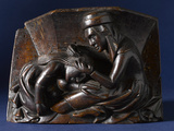 Misericord Showing a Woman Picking Nits
