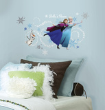 Frozen Custom Headboard Featuring Elsa  Anna & Olaf Peel and Stick Giant Wall Decals