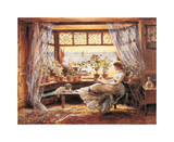 Reading by the Window Hastings Giclée par Charles James Lewis