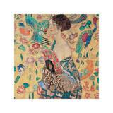 La dame à l'éventail Giclée par Gustav Klimt