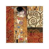 Deco Collage Detail (from The Kiss) Giclée par Gustav Klimt