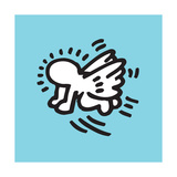 Flying Baby Reproduction d'art par Keith Haring
