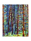In a Pine Forest Giclée par Mandy Budan
