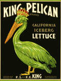 King Pelican Brand Lettuce Giclée