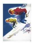 Jantzen by Binder Man and Women  Ski 1947