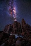 Pinnacles Milky Way Papier Photo par Lincoln Harrison