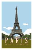 Paris Travel Poster Giclée par Michael Jon Watt