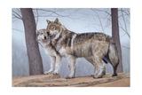 Two Wolves Giclée par Rusty Frentner