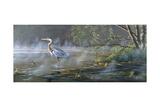 Quiet Cove - Great Blue Heron Giclée par Wilhelm Goebel