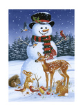 Snowman with Friends Giclée par William Vanderdasson