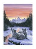 Winter's Dawn Giclée par Jeff Tift