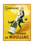 Champagne Vicomte De Moulliac Reproduction d'art