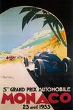 Grandprix Automobile Monaco 1933 Giclée