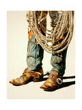 Boots and Rawhide Rope 1 Giclée par Laurin McCracken