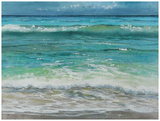 Shoreline study 10 Reproduction d'art par Carole Malcolm