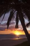 Couple Walking at Sunset at Keawekapu Beach  Wailea  Maui  Hawaii MNR