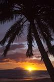 Sunset at Keawekapu Beach  Wailea  Maui  Hawaii