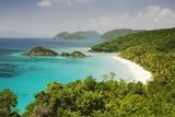 Trunk Bay at St John Island in U S Virgin Islands