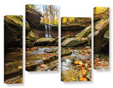 Blue Hen Falls 3  4 Piece Gallery-Wrapped Canvas Staggered Set