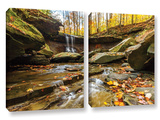 Blue Hen Falls 3  2 Piece Gallery-Wrapped Canvas Set