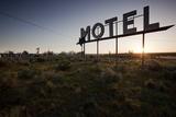 Motel Sign at Dawn  Coulee City  Washington
