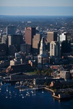 Sunrise Aerials of Boston Skyline and New England