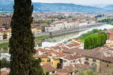 View of City Center of Florence  River Arno  Florence (Firenze)  Tuscany  Italy  Europe