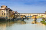 Ponte Vecchio and River Arno  Florence (Firenze)  Tuscany  Italy  Europe