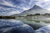 Lenticular Cloud Above Lion's Head on Signal Hill Reflected in Ocean  Camp's Bay  Cape Town